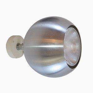 Modell 7171 Wandlampe aus gebürstetem Aluminium von Erco, 1970er