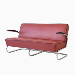 Deutsches Mid-Century Freischwinger-Sofa