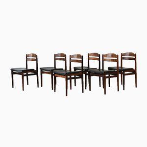 Mid-Century Stühle aus Palisander, 1960er, 6er Set