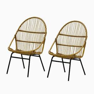 Chaises Vintage en Rotin par Alan Fuchs pour Úluv, Set de 2