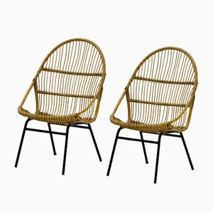Vintage Rattan Chairs by Alan Fuchs for Úluv, Set of 2