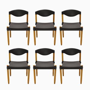 Stax Chairs by Hartmut Lohmeyer for Casala, 1981, Set of 6