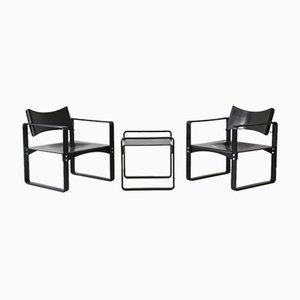 Beistelltisch & 2 Sessel von Verner Panton für Thonet, 1960er