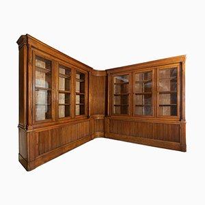 Antique Italian Walnut Bookcase