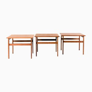 Side Tables by Illum Wikkelsø for Capella, 1960s, Set of 3