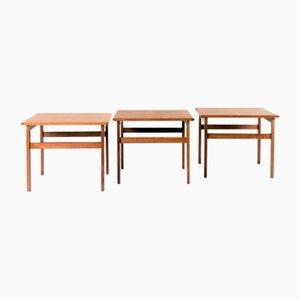 Tavolini di Illum Wikkelsø per Capella, anni '60, set di 3