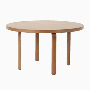 Vintage Round Birch Dining Table by Alvar Aalto for Artek