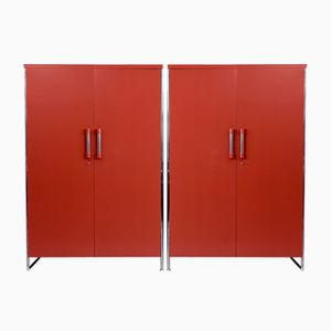 Steel Tube Wardrobes, 1935, Set of 2