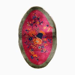 Alfombra china Art Déco antigua tejida a mano, años 20