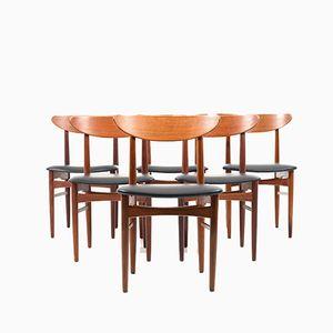 Chaises de Salle à Manger en Teck, 1960s, Danemark, Set de 6