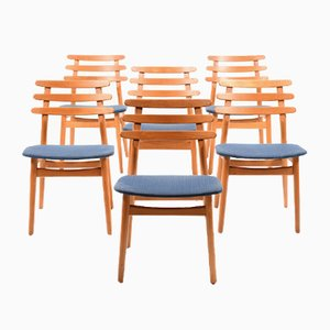 Chaises de Salle à Manger Modèle J48 Vintage par Poul M. Volther pour FDB, Set de 6