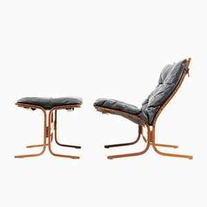 Siesta Lounge Chair & Ottoman by Ingmar Relling for Westnofa, 1970s