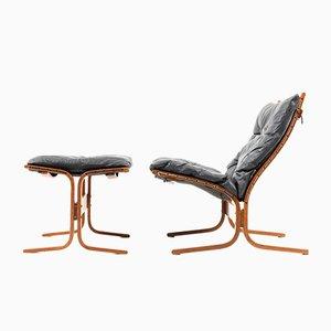 Siesta Sessel & Fußhocker von Ingmar Relling für Westnofa, 1970er