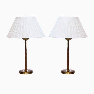 Lampes de Bureau Modèle 2043 par Åke Hultgren pour Nordiska Kompaniet, 1960s, Set de 2