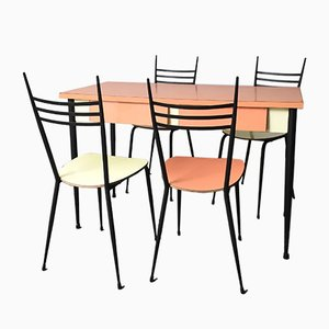Mid-Century Formica Dining Table & 4 Chairs