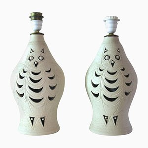 Ceramic Table Lamps by Georges Pelletier, 1970s, Set of 2