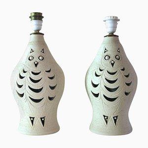 Lampes de Bureau en Céramique par Georges Pelletier, 1970s, Set de 2