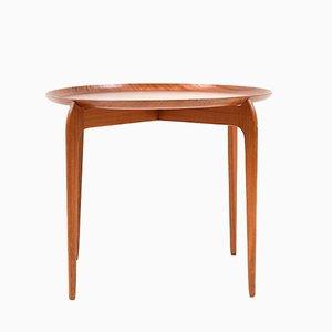 Plateau de Table Vintage en Teck par Svend Age Willumsen et Hans Engholm pour Fritz Hansen, Danemark