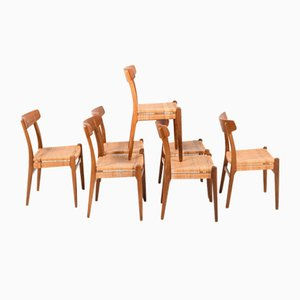 Model CH23 Dining Chairs by Hans J. Wegner for Carl Hansen & Søn, 1950s, Set of 7
