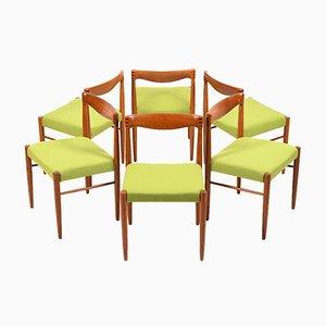 Teak Esszimmerstühle von Henry W. Klein für Bramin, 1960er, 6er Set