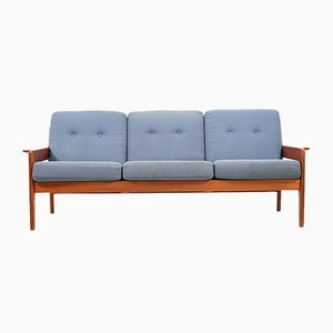 3-Seater Teak Sofa by Arne Wahl Iversen for Komfort, 1970s