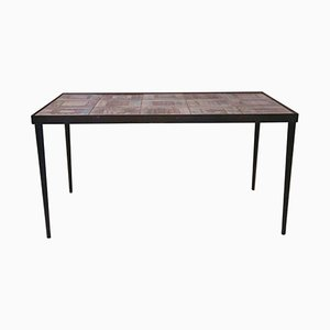 Ceramic & Iron Coffee Table by Robert & Jean Cloutier, 1970s