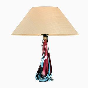 Lámpara de mesa italiana de Cristal de Murano, años 50