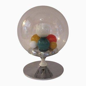 Lampada da tavolo in metallo e vetro di Angelo Brotto per Esperia, 1965