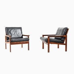 Capella Lounge Chairs by Illum Wikkelsø for Niels Eilersen, 1960s, Set of 2