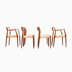 Four Model 79 Dining Chairs in Teak by Niels Otto Møller, 1960s