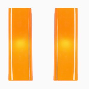Murano Wall Lamps with Square Profile, 1960s, Set of 2
