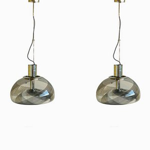 Vintage Italian Murano Glass Pendant Lamps from La Murrina, Set of 2