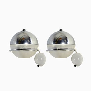 Wall Lamps by Fabio Lenci for Guzzini, 1968, Set of 2