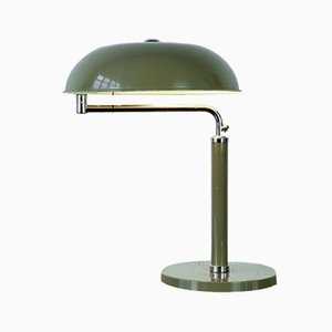 Quick 1500 Desk Lamp in Olive Green by Alfred Müller for BAG Turgi, 1935