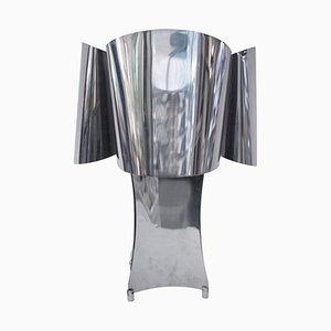 Lámpara de mesa metálica, años 70