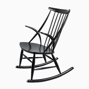 Mid-Century Gyngestol No. 3 Rocking Chair by Illum Wikkelso for Niels Eilersen