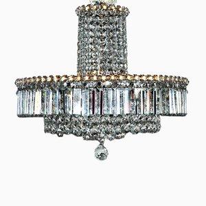 Lámpara de araña con cristales Swarovski, años 50