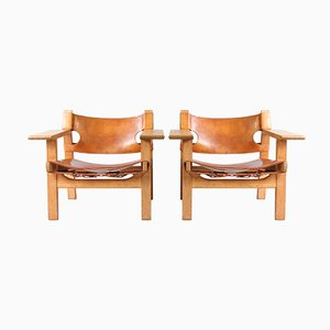 Mid-Century Spanish Armchairs by Børge Mogensen for Fredericia, Set of 2