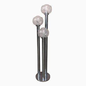Floor Lamp with Three Chrome Stems, 1970s