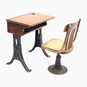 Vintage Children's School Desk & Chair from Kenny Bros Wolkins