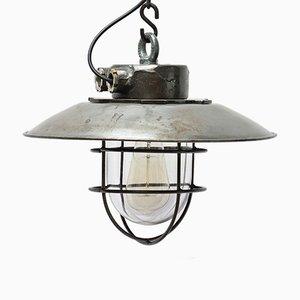 Lámpara colgante vintage de acero fundido