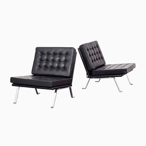 Leather Lounge Chairs by Hein Salomonson for AP Originals, 1960s, Set of 2
