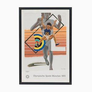 Olympische Spiele Plakat von Peter Phillips, 1972