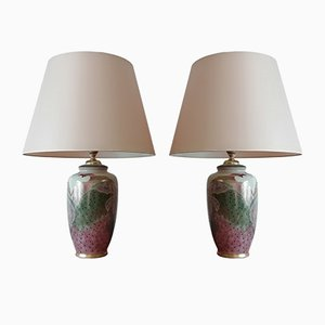 Chinese Porcelain Table Lamps, 1970s, Set of 2