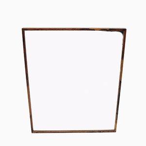 Espejo sueco grande de palisandro de Glas & Trä, años 60