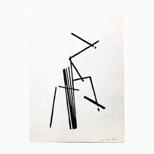 Sérigraphie par Marcelle Cahn pour Panderma, 1977