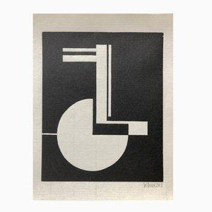 Woodcut Druck von Walter Dexel für Panderma, 1977