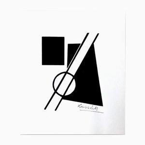 Stampa artistica di Lajos Kassak per Panderma, 1977