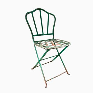 Foldable Metal Garden Chair, 1900s