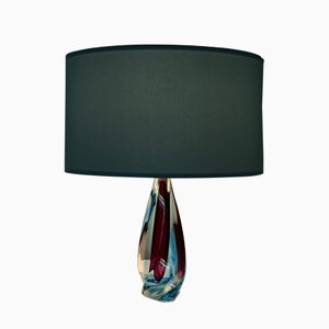 Mid-Century Italian Twisted Murano Glass Table Lamp, 1960s